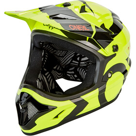 O'Neal Backflip Kask Slick, neon yellow/black